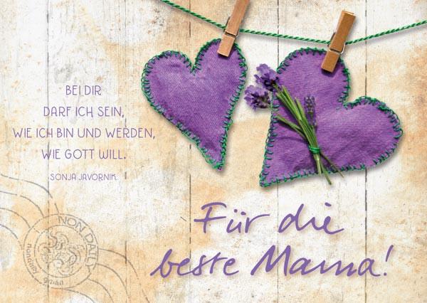 Postkarte Für die beste Mama!