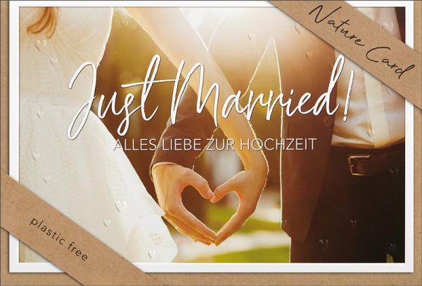 Doppelkarte Just Married NC