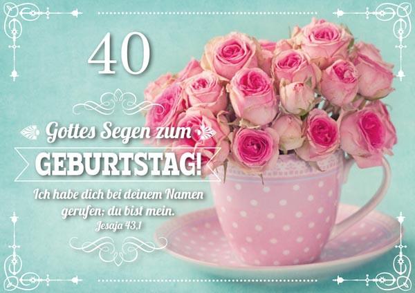 DK 40. Geburtstag Rosa Rosen
