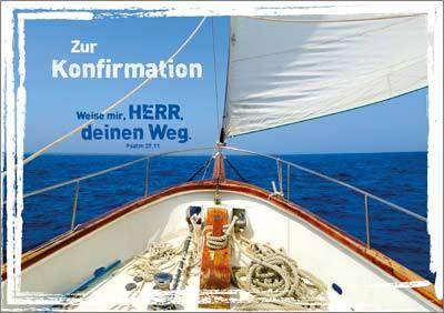 Doppelkarte Konfi Segelschiff