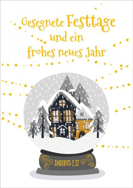 Postkarte Schneekugel GF