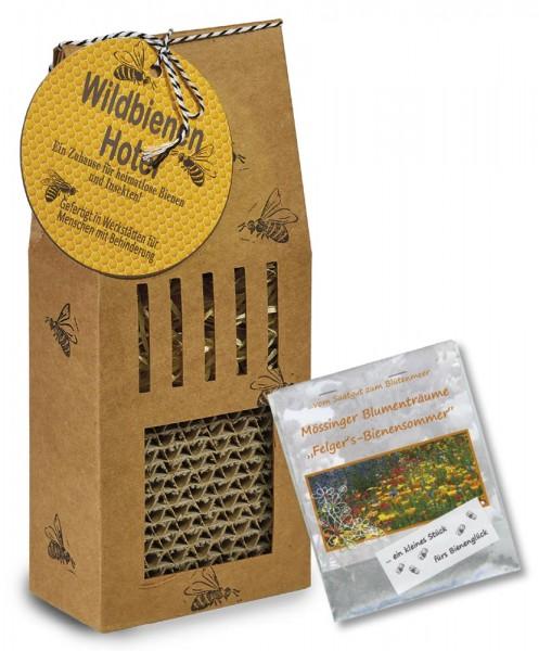Wildbienenhotel aus Pappe