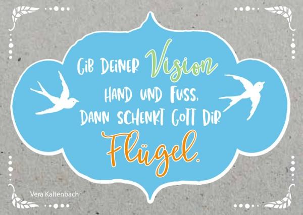 Postkarte Vision... Flügel