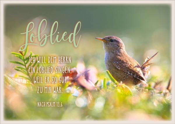 Postkarte Loblied