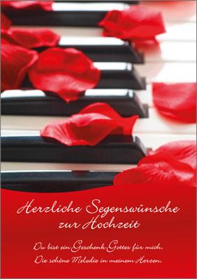 DK Klaviertasten + Rosenblätter