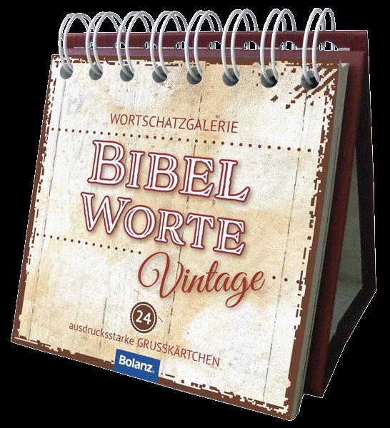 Miniaufstellbuch - Bibelworte Vintage