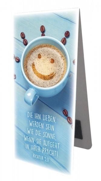 Magnetlesezeichen Cappuccino Smiley-Gesicht