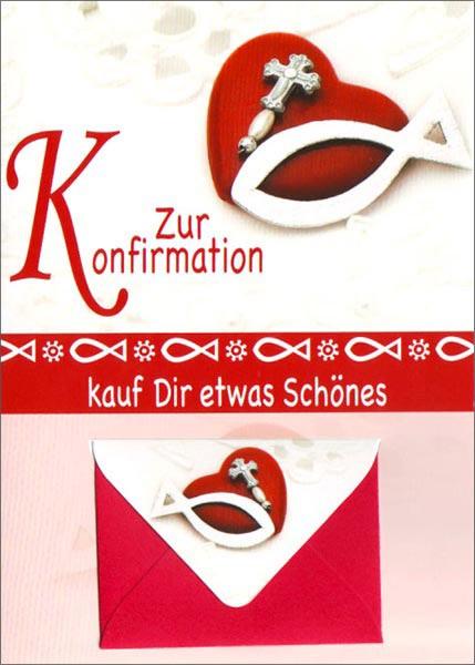 Doppelkarte Konfi Geldkuvert