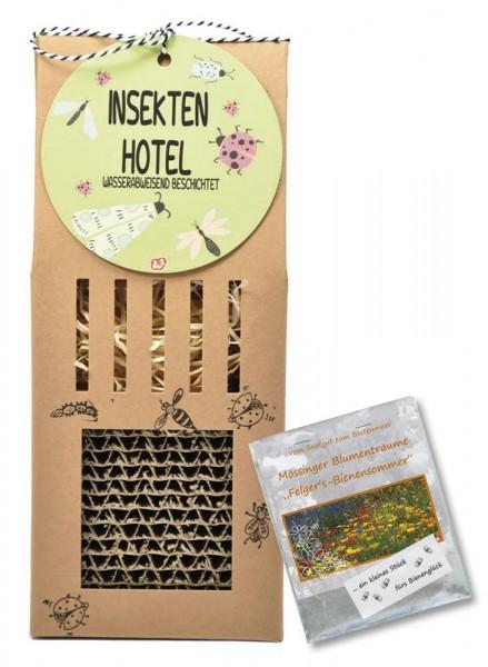 Insektenhotel mit Wildblütensamen