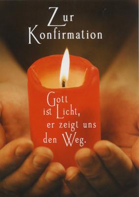 Doppelkarte Konfi Gott ist Licht