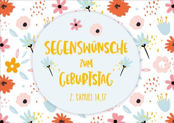 Postkarte 2. Samuel 14,17 / Blüten GF