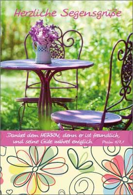Minikarten Gartenidylle