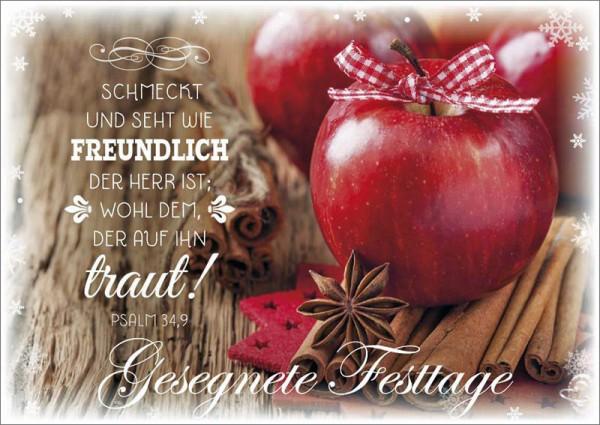 Postkarte Äpfel + Sternanis
