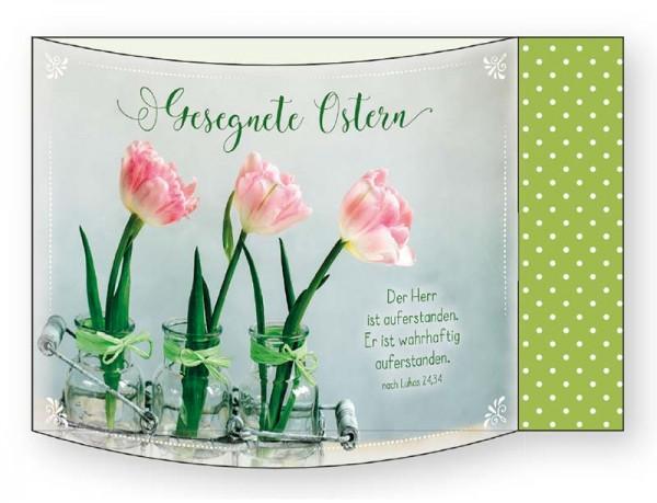 Aufstellkarte Ostern 3 Tulpen
