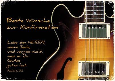 Doppelkarte Konfi Gitarre