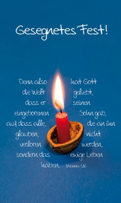 DK Kerze in Nuss-Schale