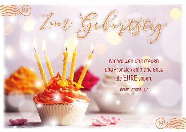 Postkarte Geburtstagsmuffin