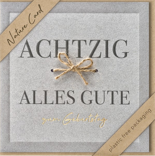 Doppelkarte Achzig Bastschleife NC