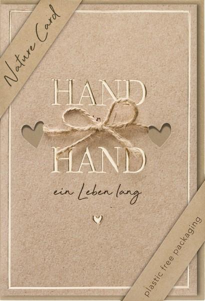 Doppelkarte Hand in Hand NC