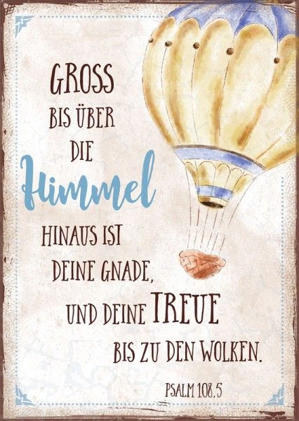 Postkarte Heißluftballon Himmel
