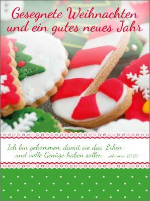 Minikarten Kekse mit Dekor