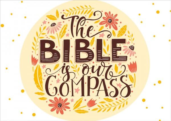 Postkarte Bible Compass GF