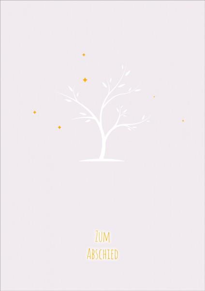 Doppelkarte Baum ohne Blätter GF