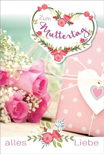 Doppelkarte Alles Liebe Muttertag