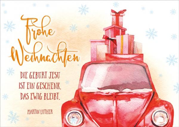 Postkarte Geschenke Käfer BW
