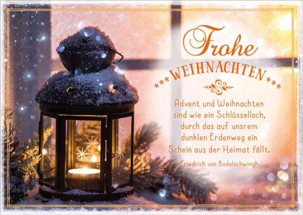 Postkarte Advent und Weihnachten
