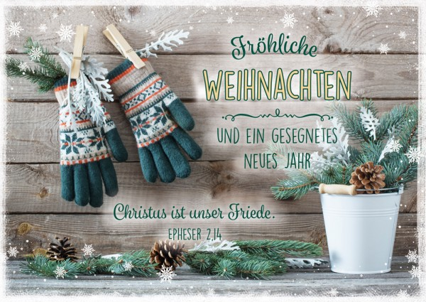 Postkarte WH Norweger Handschuhe