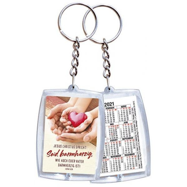 Jahreslosung 2021 - Schlüsselanhänger mit Kalendarium (Kalender)