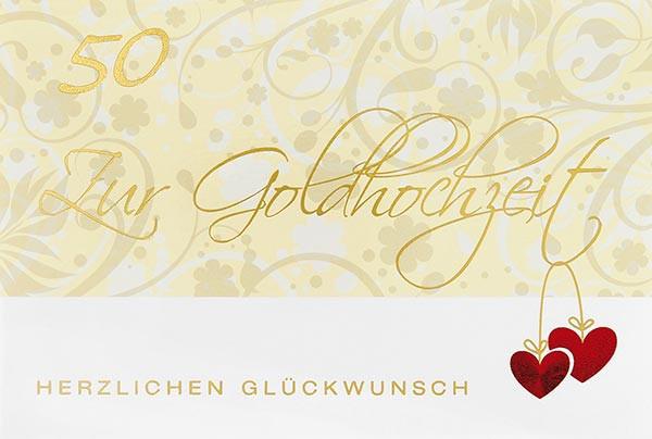Doppelkarte 50 Zur Goldhochzeit
