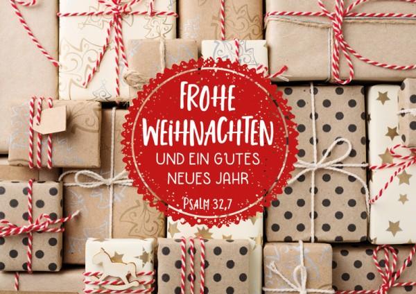 Doppelkarte Viele Weihnachtspäckchen