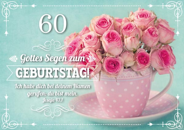 DK 60. Geburtstag Rosa Rosen