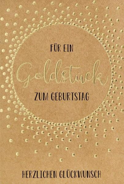 Doppelkarte Goldstück