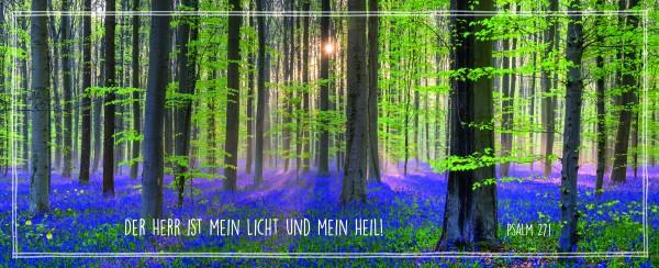 Metallschild Wald