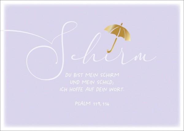 Postkarte Schirm GF