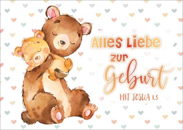Postkarte Bären Baby