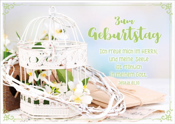 Postkarte Vogelkäfig